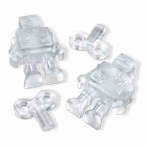 Chillbots Robot Ice tray for Futuristic Ice Cubes