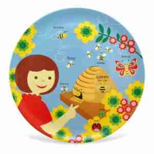 Large Platter by Jane Jenni - Beehive Making Honey