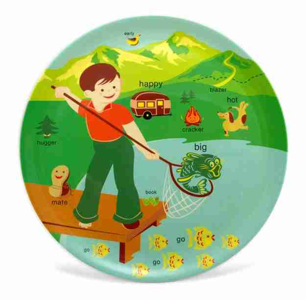 Large Camping Platter by Jane Jenni - Kids Dining Plates | Fox and ...