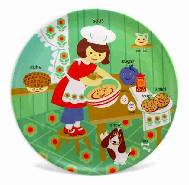 Large Sous Chef Plater by Jane Jenni - Kids Dining Plates | Fox and ...