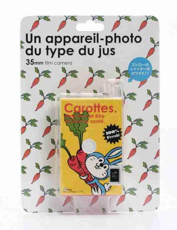 Fuuvi Juice Box 35mm Film Point-n-Click Camera - Carrot