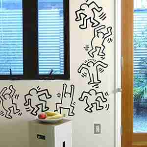 Keith Haring Dancers Wall Sticker / Decal in Black