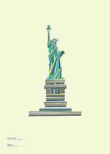 "Limited Edition ""Landmarques"" Litho Print Artwork - The Statue of Liberty"