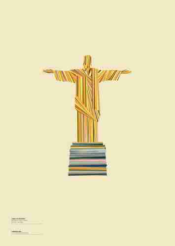 "Limited Edition ""Landmarques"" Litho Print Artwork - Christ the Redeemer"