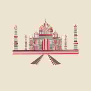 "Limited Edition ""Landmarques"" Litho Print Artwork - The Taj Mahal"