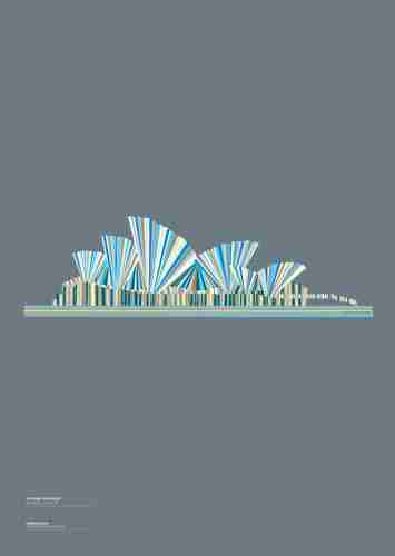 "Limited Edition ""Landmarques"" Litho Print Artwork - The Sydney Opera House"