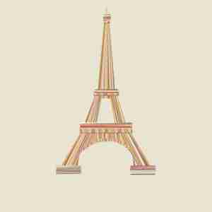 "Limited Edition ""Landmarques"" Litho Print Artwork - The Eiffel Tower"