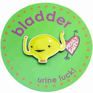 Bladder Lapel Pin by I Heart Guts