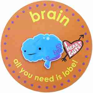 Brain Lapel Pin by I Heart Guts