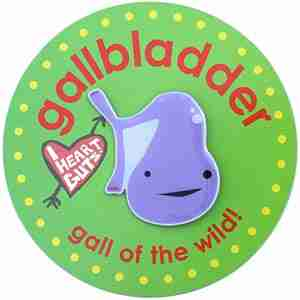 Gallbladder Lapel Pin by I Heart Guts