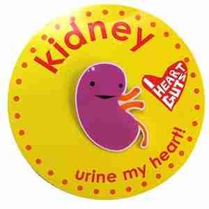 Kidney Lapel Pin by I Heart Guts