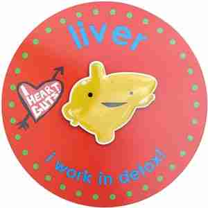 Liver Lapel Pin by I Heart Guts