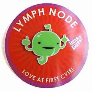 Lymph Node Lapel Pin by I Heart Guts