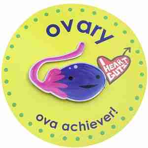 Ovary Lapel Pin by I Heart Guts