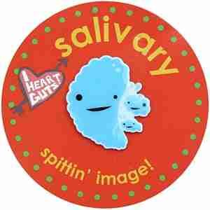 Salivary Gland Lapel Pin by I Heart Guts
