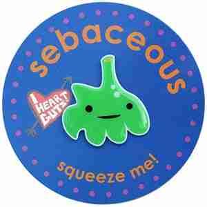 Sebaceous Lapel Pin by I Heart Guts