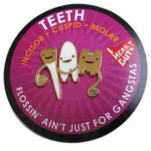 Teeth Lapel Pin by I Heart Guts