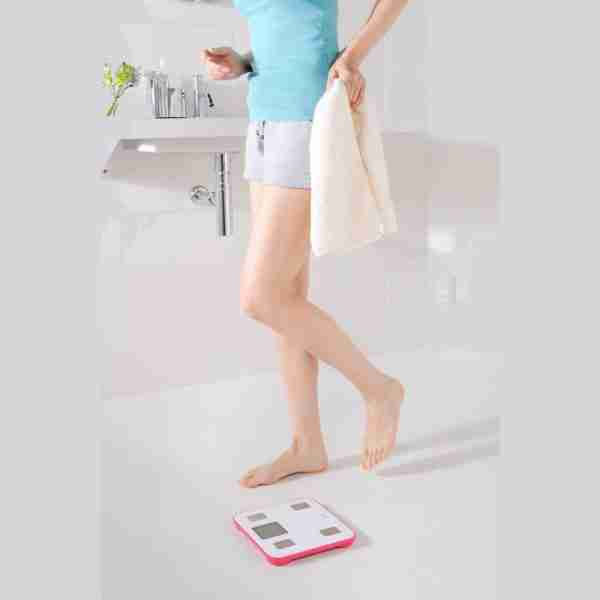 Legere470: Ultra Light Body Analysis Bathroom Scales - Pink
