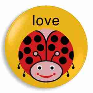 Love Bug Plate - Kids Homewares Designed by Jane Jenni