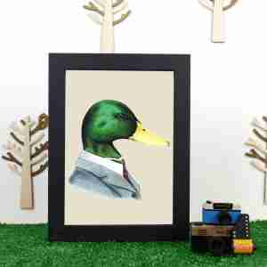 Ryan Berkley Well Dressed Mallard Duck Framed Print Wall Art
