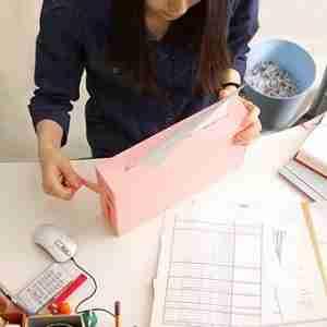 Designer Manual Paper Shredder: Sky Blue