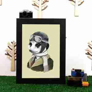 Ryan Berkley Well Dressed Meerkat Framed Print Wall Art
