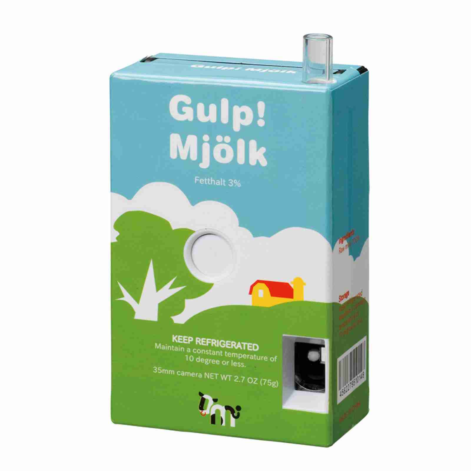 Quirky Gift Milk Box Camera 35mm Film Gulp Fox And