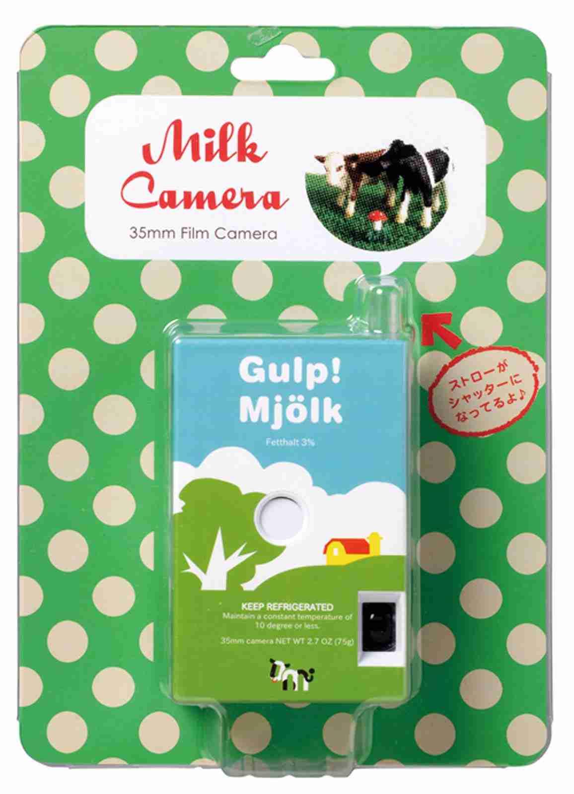 Fuuvi Milk Box 35mm Film Point-n-Click Camera - Gulp!