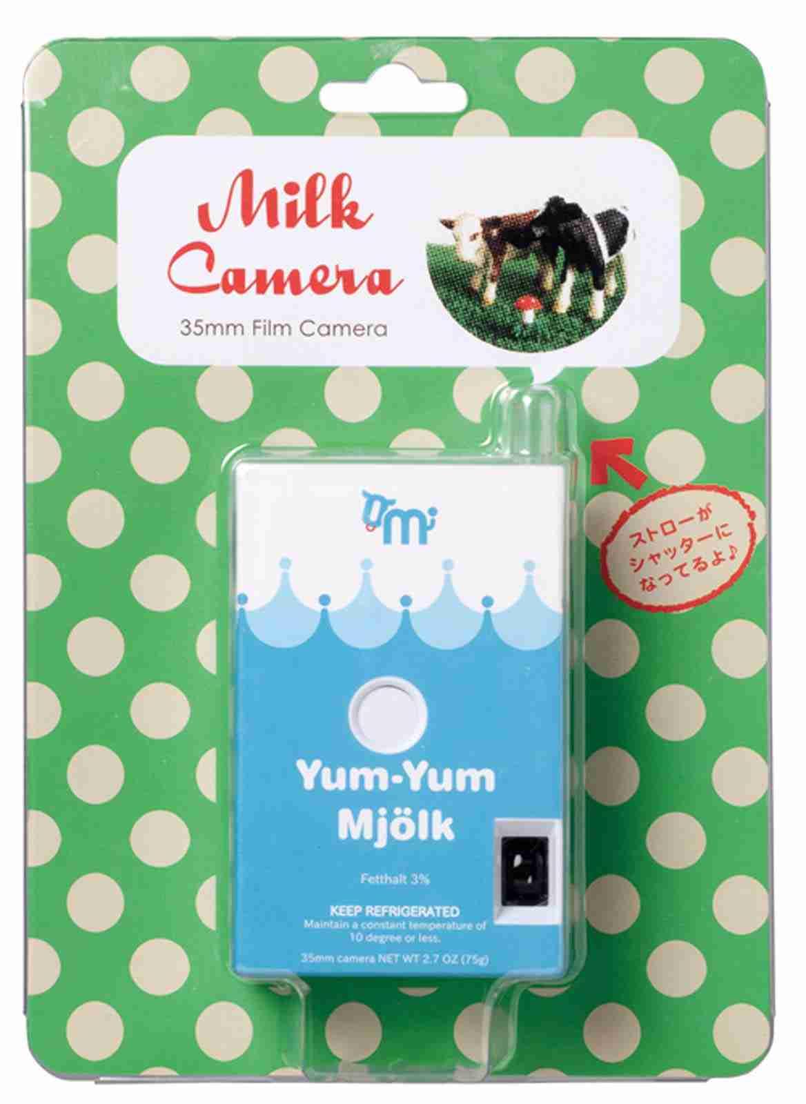 Fuuvi Milk Box 35mm Film Point-n-Click Camera - Yum-Yum