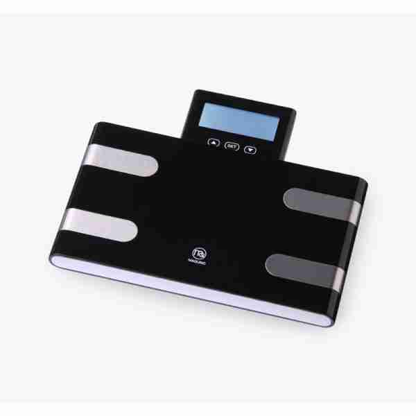 Mincette Sporty Multi-Function Body Analysis Scales - Black White
