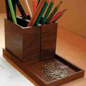 Module Tray and Stand in Walnut by Hacoa