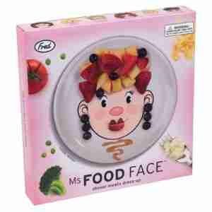 Cute Ms Food Face Kids Plate