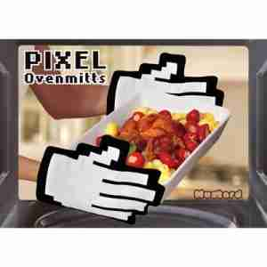 Pixel Oven Gloves by Mustard