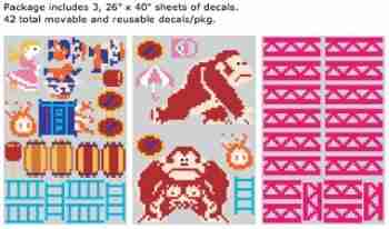 Nintendo Donkey Kong RE-STIK Wall Sticker / Decal  sc 1 st  Fox u0026 Monocle : nintendo wall decal - www.pureclipart.com
