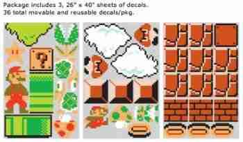 Nintendo ORIGINAL Super Mario RE-STIK Wall Sticker