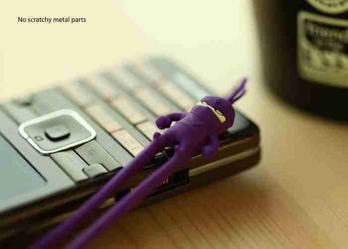 Purple Ninja Phone Strap by Bone Collection
