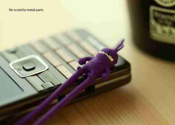 Black Ninja Phone Strap by Bone Collection