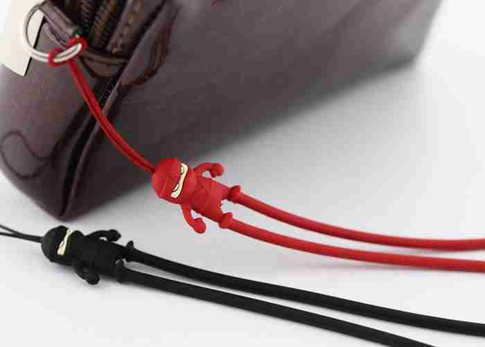 Black Ninja Phone Strap by Bone Collection