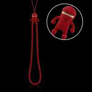 Red Ninja Phone Strap by Bone Collection