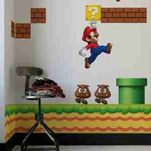 Nintendo NEW Super Mario Bros, RE-STIK Wall Sticker