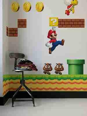 Nintendo NEW Super Mario Bros, RE-STIK Wall Sticker