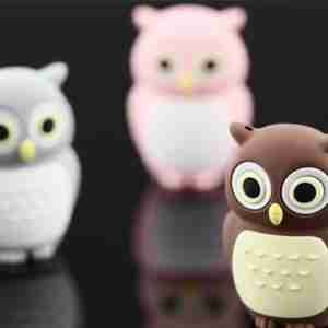 Bone Collection Brown Owl 4Gb USB Flash Personal Digital Storage Drive