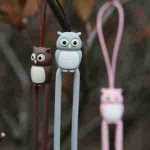 Brown Owl Phone Strap by Bone Collection