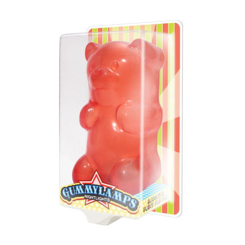 The Gummylamp: Squeezable Red Gummy Bear Lamp