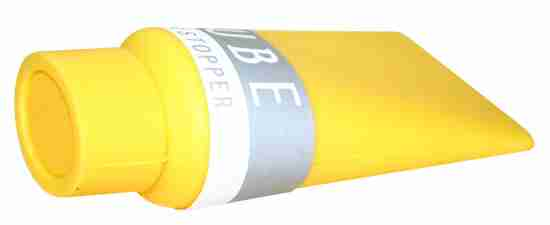 Yellow Paint Tube Doorstopper by +d Japan
