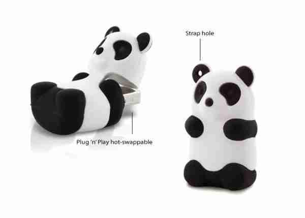 Bone Collection White Panda 4Gb USB Flash Personal Digital Storage Drive