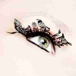 """Birds"" Paper Eyelashes (Large) by PAPERSELF"
