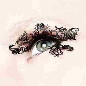 """Under the Sea"" Paper Eyelashes (Large) by PAPERSELF"