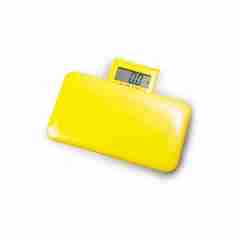 Petit Mignon Super Light Weight Travel Bathroom Scales in Yellow