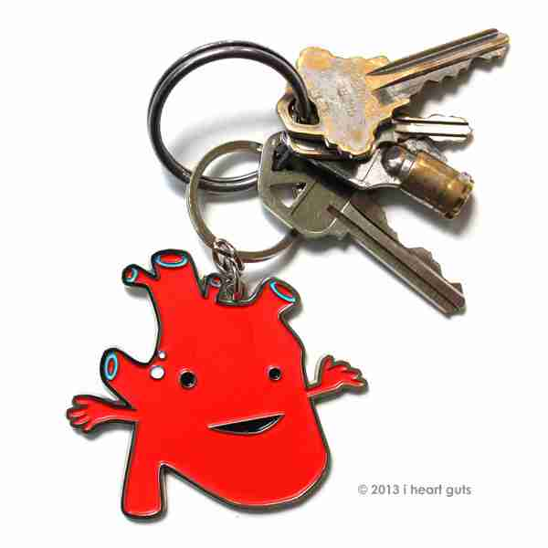 New I Heart Guts Key Chains on Fox and Monocle